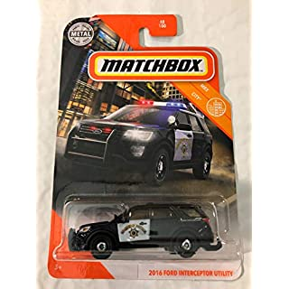 Matchbox 2016 Ford Interceptor Utility 48/100 Black Highway Patrol MBX Coty