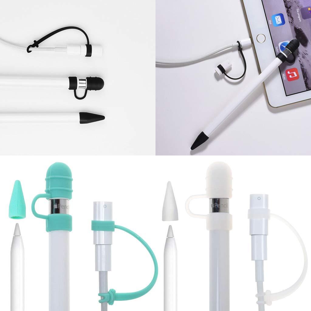 Transparent Mikiya Apple Pencil Zubeh/ör Set Apple Pencil Adapter Tether Apple Pencil Kappe Apple Pencil Spitze