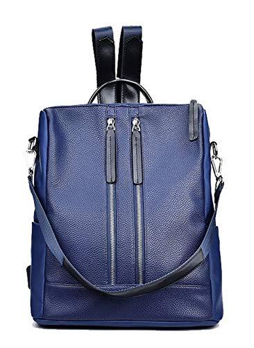 Sacs Sacs Tout PU Zippers Bleu Noir bandoulière Femme fourre Cuir GMBBA182381 AgooLar à qw4SF0n