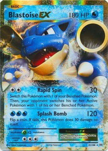 Pokémon Blastoise EX 21//108 Ultra Evolutions PACK FRESH MINT