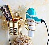 Cinlv Premium Aluminum Hair Blow Dryer Holder Spiral Practical...