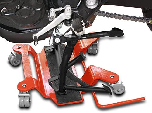 ConStands Dolly Mover for Honda VFR 800 F for Centre Stand red