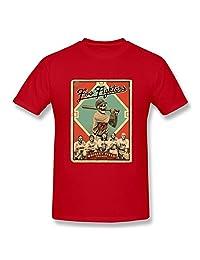 Jahei Custom Foo Fighters T-Shirts For Adult Boys Short Sleeve Red XXL