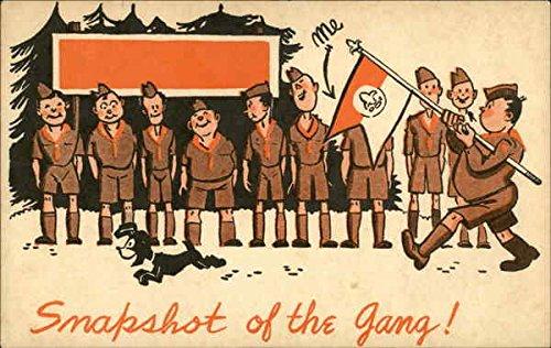 Gang Snap (Snapshot of the Gang! Boy Scouts Original Vintage Postcard)