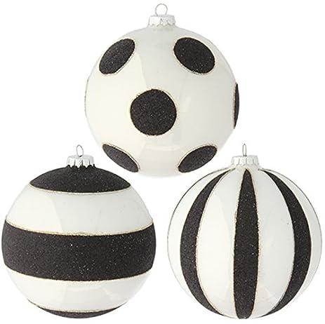 Amazoncom RAZ Imports  5 Glittered Black and White Striped and