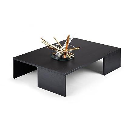 Mobilifiver Rachele Tavolino da Salotto, Legno, Pino Nero, 90x60x21 ...