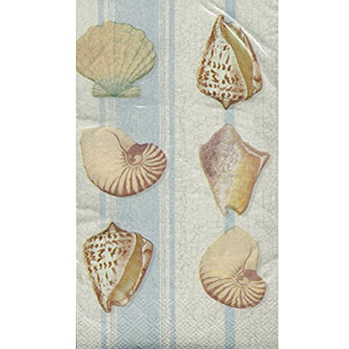 (Summer 'Seashell Stripe' Guest Napkins (20ct))