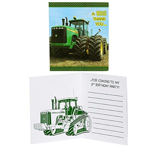 John Deere 2nd Birthday Thank-You Notes - Deere John Thank You