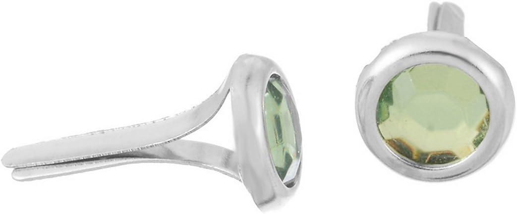 Souarts Green Round Mini Brads for DIY Scrapbooking Embellishment Pack of 50pcs