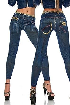 Graffiti Demin Blue Jeggings Stretch Pants Leggings Pencil Slim Jeans Tights Black