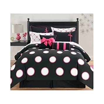 size ballerina twin sets cotton comforter polka fadfay item bedding girls comforters textile home dot pink kids