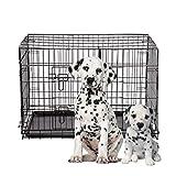 BestPet 42'' Pet Kennel Cat Dog Folding Steel Crate Playpen Wire Metal Cage W/Divider