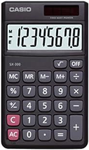 Calculadora de Bolso com Visor de 8 Dígitos, Casio, SX-300, Preto