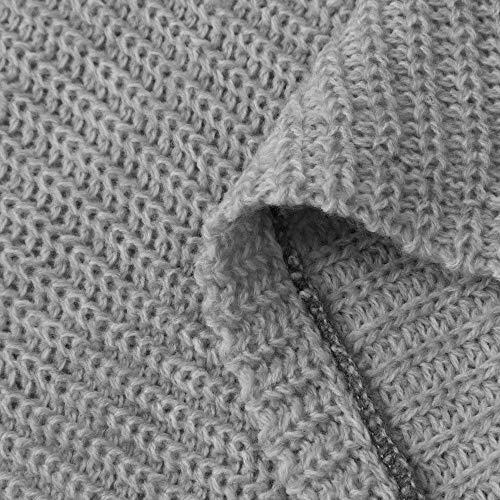 A Off colore Giacca Solido Donna Cappotti Fuweiencore Inverno Lunghe Invernale Pullover Da Grigio Maniche 40 cn Camicia Manica Dimensione Capispalla Lunga Cappotto Eu Grigio Autunno l CxZwPUpwq