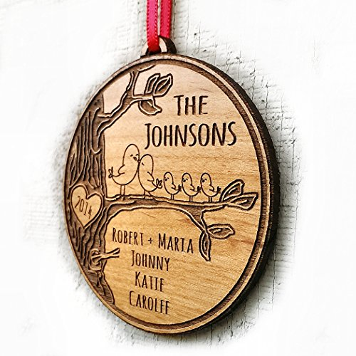 Personalized Family Christmas Ornament Gift Christmas Ornament 2018 Family Name Year