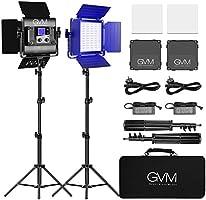 GVM RGB LED-videolamp met statief, APP Control LED fotografie videoverlichting, CRI97 3200-5600K videolicht LED voor...