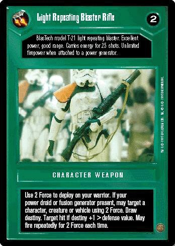 STAR WARS CCG DS PREMIER LIMITED LIGHT REPEATING BLASTER RIFLE 157R1