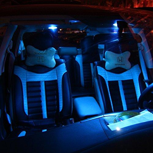 Partsam 2006 2012 Honda Civic Coupe Sedan Ice Blue Interior Led Lights Package Kit Gift Tool