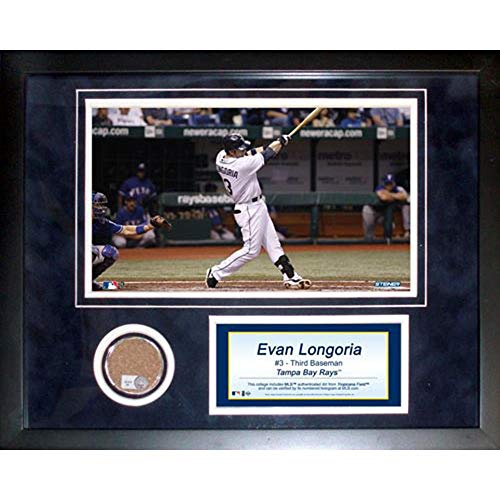 Steiner Sports MLB Tampa Bay Devil Rays Evan Longoria 11 x 14-inch Mini Dirt Collage