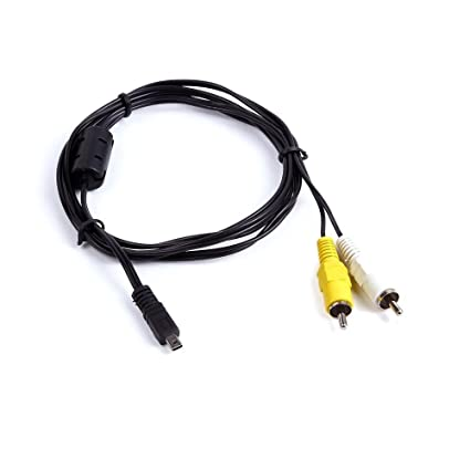 Antoble AV Audio Video TV-Out Cable Cord Lead for Panasonic Lumix CAMERA DMW-AVC1
