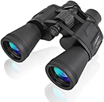 PHELRENA 20x50 Binoculars Adults,Compact HD Professional Binoculars Telescope Bird Watching Stargazing Hunting Concerts Football Sightseeing Phone Mount Strap Carrying Bag