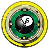 Best Neon Pool Cues - Trademark 8BL1400 8-Ball 14-Inch Diameter Neon Wall Clock Review