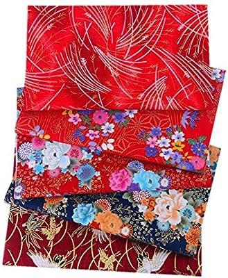 5 Piezas Tela Algodon Patchwork 20 X 25 Cm, Tela De Algodón Telas Patchwork, DIY Tela De Retazos para Costura Manualidades Álbumes De Recortes: Amazon.es: Hogar