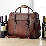 6-Bottle Leather BYO Weekender Wine Bag