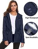 Waterproof Coats for Women,Rain Jackets Waterproof with Hood Lightweight Plus Size