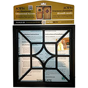 nuvo iron square decorative gate fence insert acw54