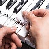 HANDSOME - Set di adesivi per tasti bianchi e neri di pianoforte e pianola, in plastica trasparente,
