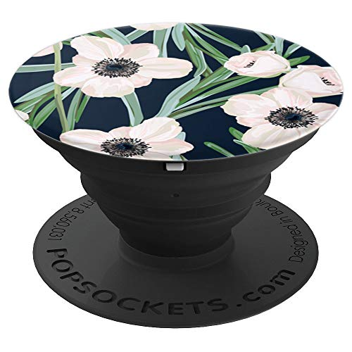 Cute Flower Pattern   Beautiful Anemone Floral - PopSockets Grip and Stand for Phones and Tablets
