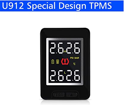 BEESCLOVER Auto Wireless TPMS Tire Pressure Monitoring System with 4 Sensors LCD Display Embedded Monitor For Toyota CAREUD U912 U912 Built-in model