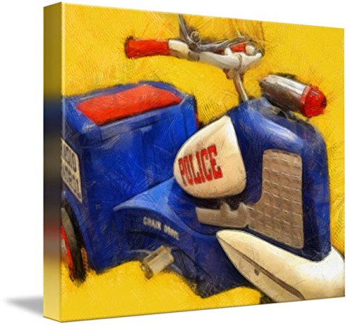 Car Police Pedal Retro - Imagekind Wall Art Print entitled Classic Police Tricycle by Michelle Calkins | 10 x 8