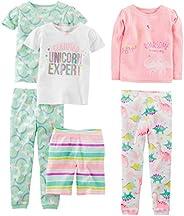 Simple Joys by Carter's Baby-Girls 6-Piece Snug Fit Cotton Pajama Set Pajama