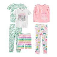 Girls' 6-Piece Snug Fit Cotton Pajama Set
