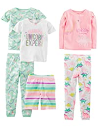 Simple Joys by Carter's Baby-Girls 6-Piece Snug Fit Cotton Pajama Set Pajama Set