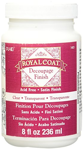 Plaid Royal Coat Decoupage (8-Ounce), 1401 Clear Satin (Satin Decoupage)