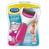 Scholl Velvet Smooth Express Pedi Hornhautentferner (Extra Stark,mit Mikrogranulaten und Diamantpartikeln), rosa