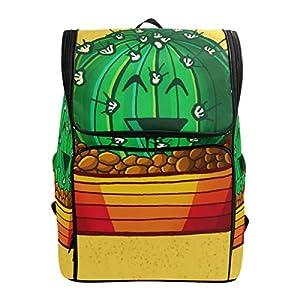 DXG1 Zaino Giallo Cactus Borsa Moda per Donne Uomini Ragazzo Ragazzo Bookbag Viaggio College Casual Zaino Prescolare… 10 spesavip