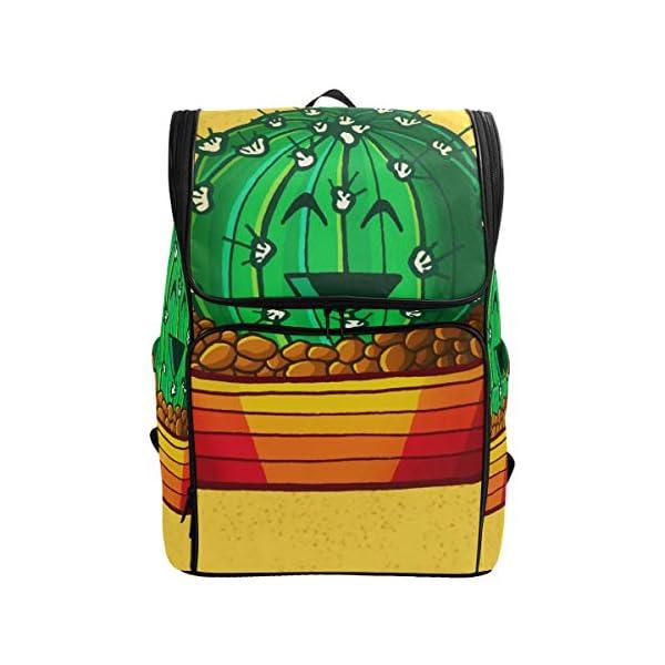 DXG1 Zaino Giallo Cactus Borsa Moda per Donne Uomini Ragazzo Ragazzo Bookbag Viaggio College Casual Zaino Prescolare… 1 spesavip