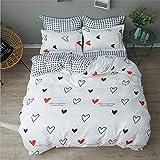 Bed Duvet Cover Bed Flat Sheet Pillow Case Twin Full Queen King Size Bedding Set C 220x240cm