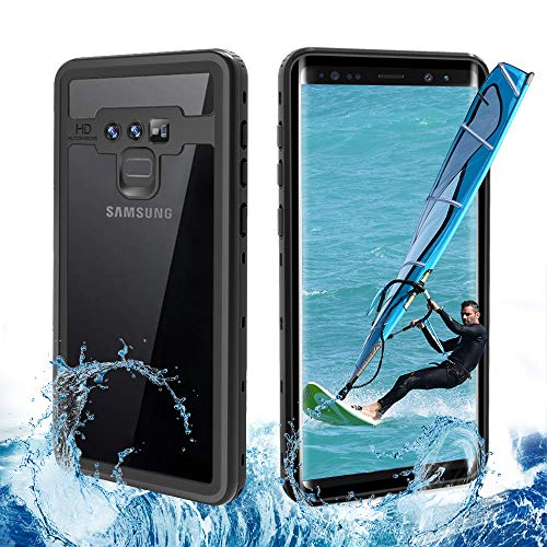Samsung Galaxy Note 9 Waterproof Case,Shockproof Durable Case,Support Wireless Charging Built-in Screen Protector, Touch Sensitive Heavy Duty Protection Underwater Outdoor Sport (Black)