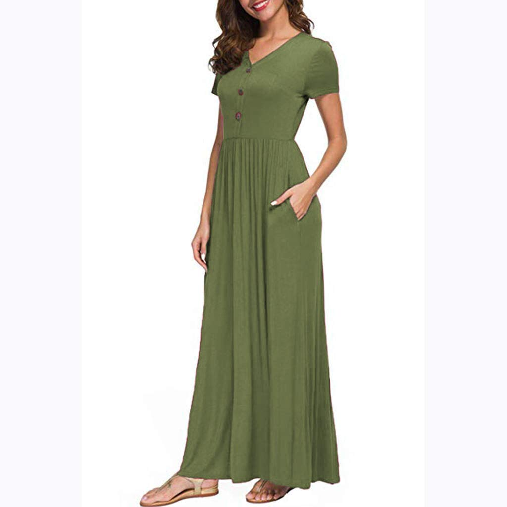 Amazon.com : Copercn Womens Ladies Plain Color Simple V ...
