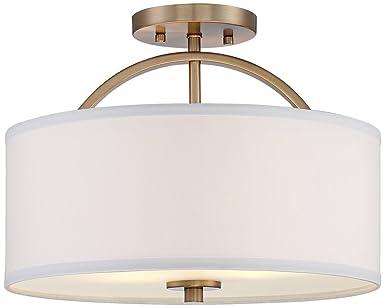 Halsted warm brass semi flush 15 wide ceiling light amazon halsted warm brass semi flush 15quot wide ceiling light aloadofball Gallery