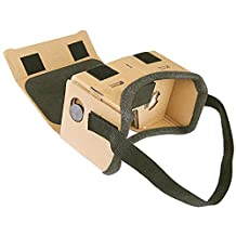 Google Cardboard JoyGeek VR Headset 3D Glasses Virtual Reality Glasses for 4-6 Inch iOS Apple iPhone and Android Smartphones with Headband and Magnet