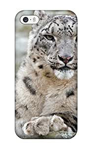 For Iphone 5/5s Fashion Design Snow Leopard Pictures Case 6185102K91745543