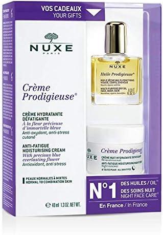 Nuxe Prodigieuse - Lote de crema (40 ml), aceite (10 ml) y Crema de noche (15 ml): Amazon.es: Salud y cuidado personal