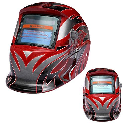 Casco de soldadura - SODIAL(R)Nuevo Pro Casco de soldadura de oscurecimiento automa Mascara de moledura Mig Tig de arco Molienda CALIENTE