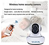 Wireless IP Security Camera Two Way Audio Night Vision Motion Detection Mobile View and Control, Photo and Video Recording with SD card Slot by Yuzun